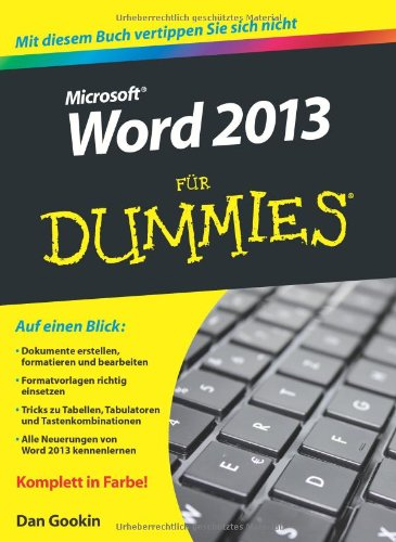 Word 2013 Fur Dummies