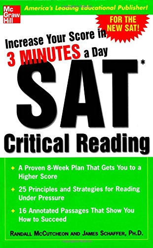 Increase Your Score In 3 Minutes A Day : Sat Critical Reading