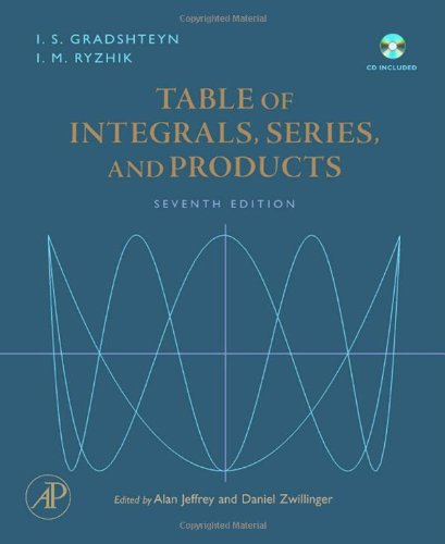 Table Of Integrals' Series' And Products