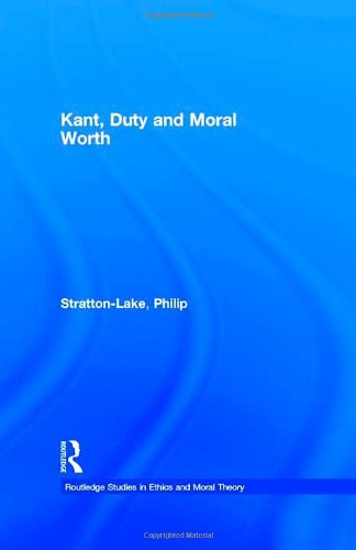 Kant' Duty and Moral Worth