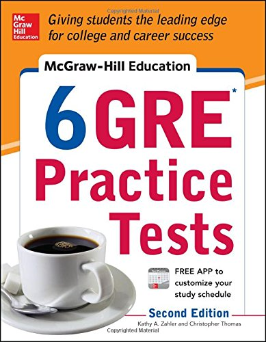 McGraw-Hill Education 6 GRE Practice Tests' 2nd Edition