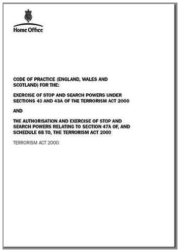 Code of Practice for the Exercise of Stop and Search Powers