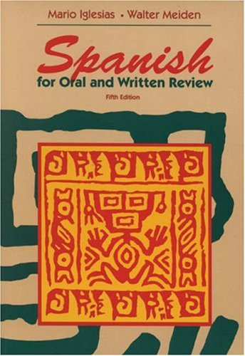 Spanish For Oral & Written Review 5E