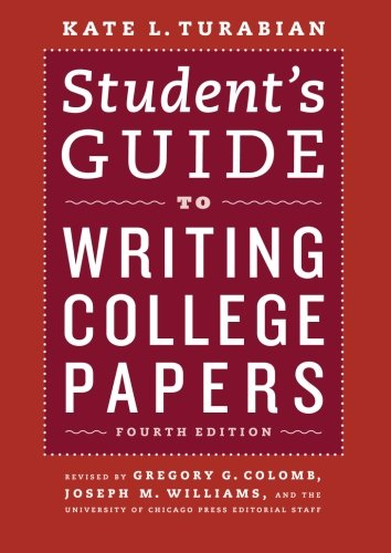 Students Guide to Writing College Papers (4th Revised edition)
