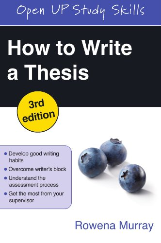 How to Write a Thesis (3rd Revised edition)