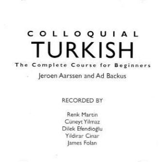 Colloquial Turkish: The Complete Course for Beginners (2nd)