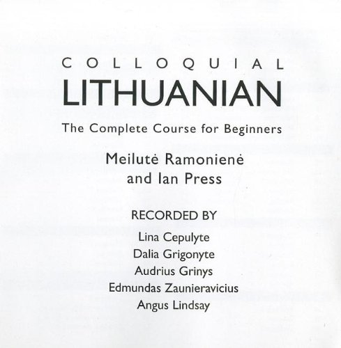 Colloquial Lithuanian (2nd Revised edition)