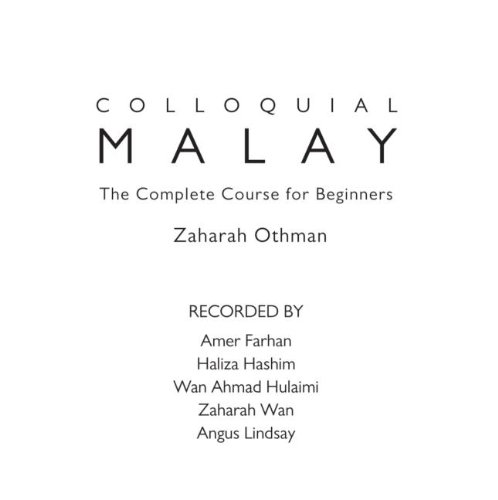 Colloquial Malay: The Complete Course for Beginners (Colloquial Series