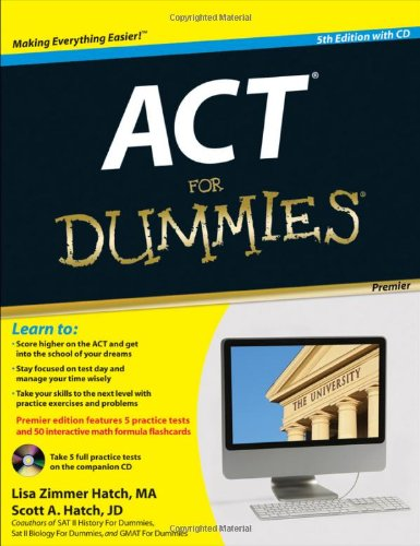 ACT For Dummies: with CD (For Dummies