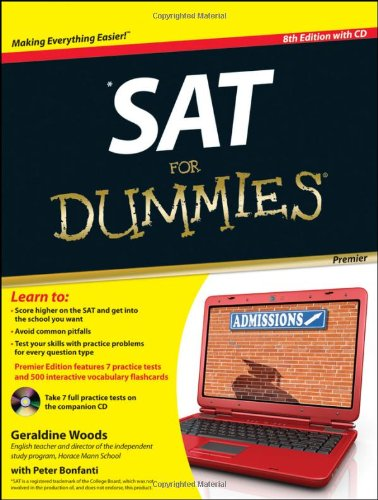 SAT For Dummies: with CD (Premier ed)