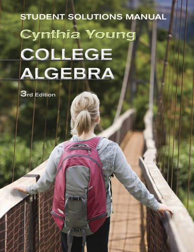 College Algebra' Student Solutions Manual