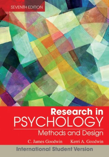 Research in Psychology: Methods and Design (7th International student edition)