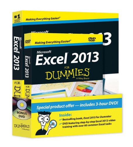 Excel 2013 For Dummies DVD Bundle