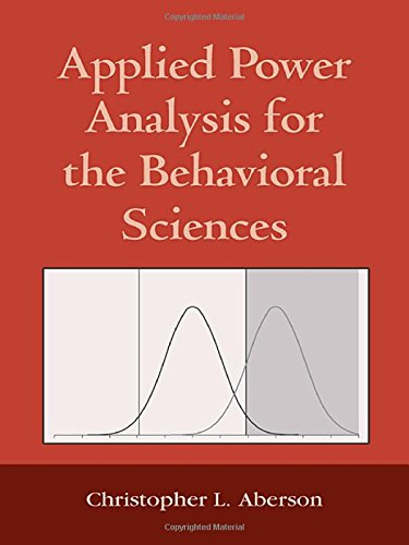 Applied Power Analysis for the Behavioral Sciences