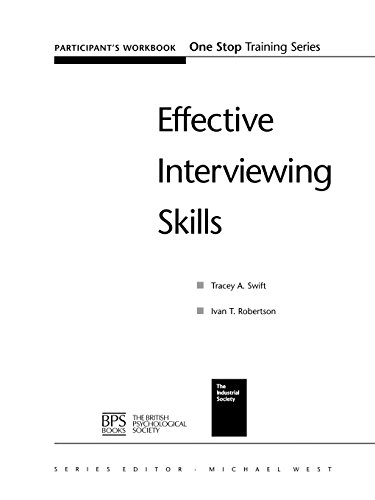 Effective Interviewing Skills: Participants Workbook