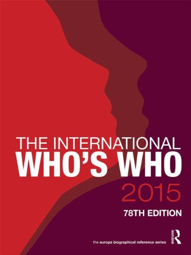 The International Whos Who 2015 (78th Revised edition)