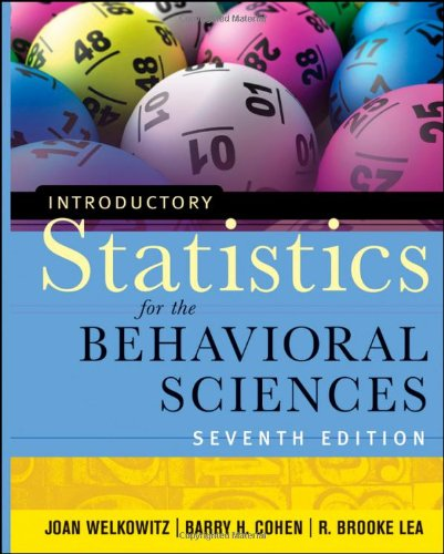Introductory Statistics for the Behavioral Sciences (7th Revised edition)