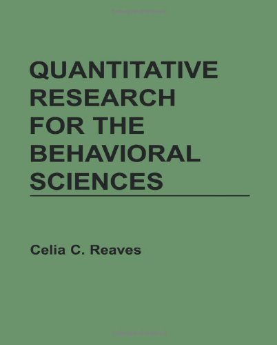 Quantitative Research for the Behavioural Sciences