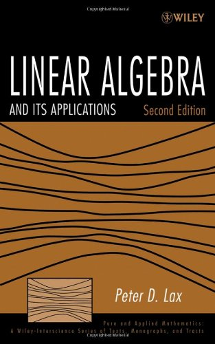 Linear Algebra and Its Applications (2nd Revised edition)