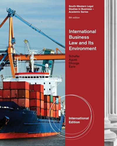 International Business Law and Its Environment (8th Revised edition)