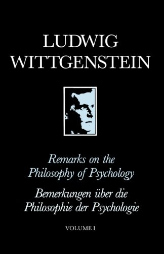 Remarks on the Philosophy of Psychology: v. 1 (New edition)