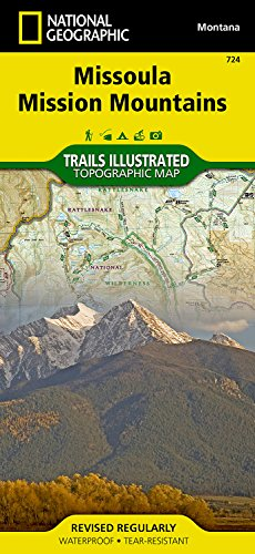 Missoula Mission Mountains (National Geographic Trails Illustrated Map)