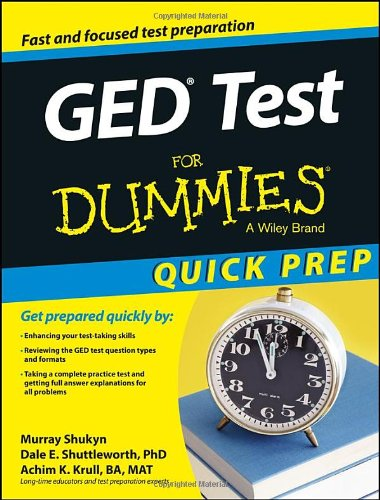 GED Test For Dummies' Quick Prep Edition